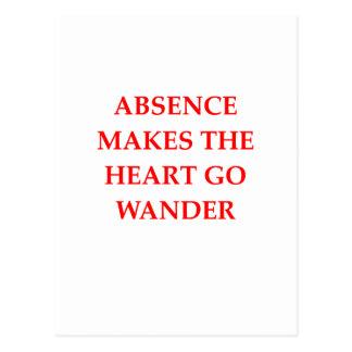 absence postcard