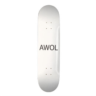 absent without leave.ai 19.7 cm skateboard deck