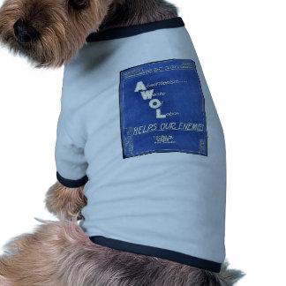 Absenteesim Waste Of Labor, Helps Our Enemies Pet Tee Shirt