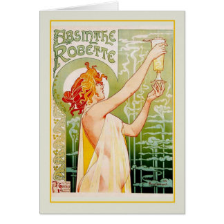 Absinthe advert card