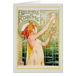 Absinthe advert greeting card