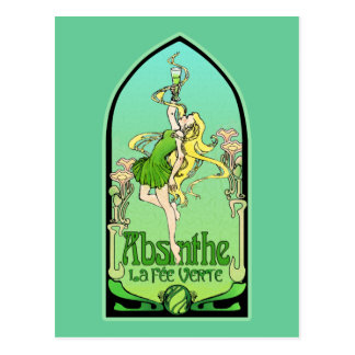 Absinthe Art Nouveau Postcard