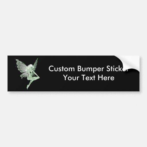 Absinthe Art Signature Green Fairy 1B Bumper Stickers