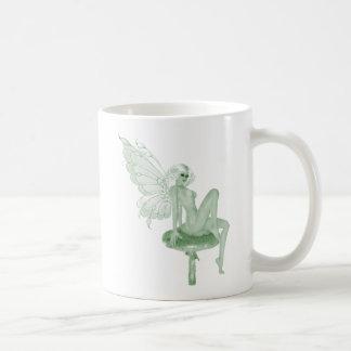 Absinthe Art Signature Green Fairy 2A Basic White Mug