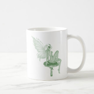 Absinthe Art Signature Green Fairy 2A Basic White Mug