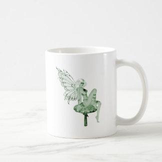Absinthe Art Signature Green Fairy 2B Basic White Mug