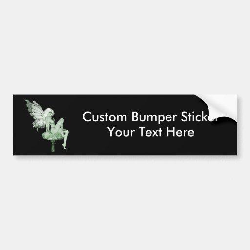 Absinthe Art Signature Green Fairy 2B Bumper Sticker