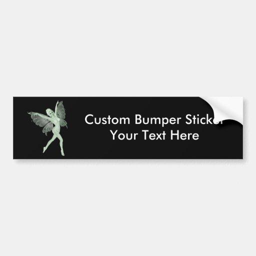 Absinthe Art Signature Green Fairy 3A Bumper Stickers