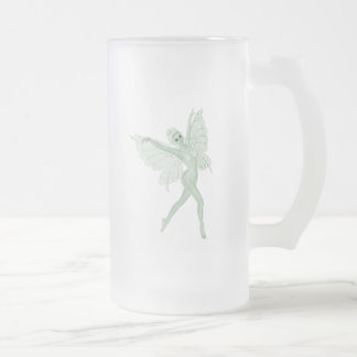 Absinthe Art Signature Green Fairy 3A Frosted Glass Mug