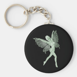 Absinthe Art Signature Green Fairy 3B Basic Round Button Key Ring