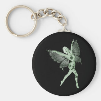 Absinthe Art Signature Green Fairy 8 Basic Round Button Key Ring