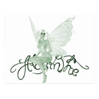 Absinthe Art Signature Green Fairy - Absinthe Postcard