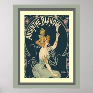 Absinthe Blanqui Art Nouveau Poster 16 x 20