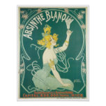 Absinthe Blanqui French victorian advertising Poster