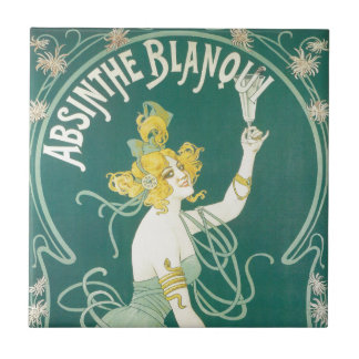 Absinthe Blanqui French victorian Art Nouveau Small Square Tile