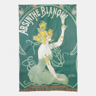 Absinthe Blanqui French victorian Art Nouveau Tea Towel