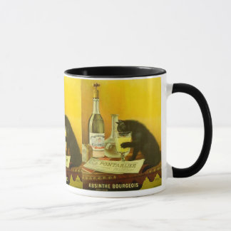 Absinthe Bourgeois and Cat Fine Vintage Poster Mug