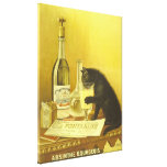 Absinthe Bourgeois and Cat Vintage Poster Art Stretched Canvas Print
