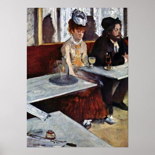 Absinthe by Edgar Degas Poster