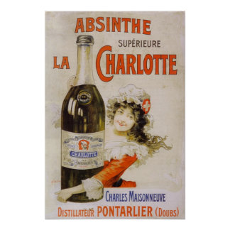 Absinthe drawer Charlotte Poster