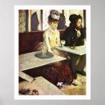 Absinthe Drinker by Edgar Degas Poster
