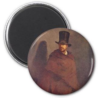 Absinthe Drinker - Edouard Manet 6 Cm Round Magnet
