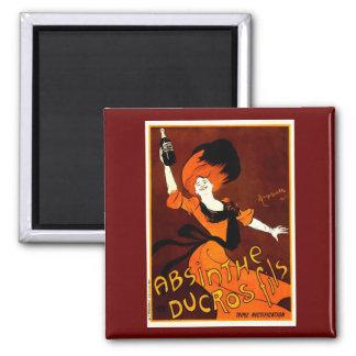 Absinthe Ducros Fils Leonetto Cappiello Fine Art Square Magnet