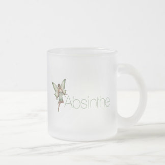 Absinthe Green Fairy In 3D Frosted Glass Mug
