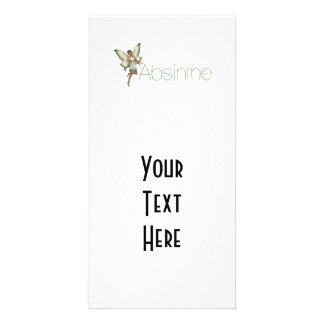 Absinthe Green Fairy In 3D Personalized Photo Card