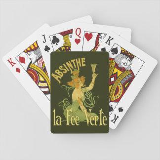 Absinthe Green Fairy La Fee Verte,Poster Steampunk Poker Deck