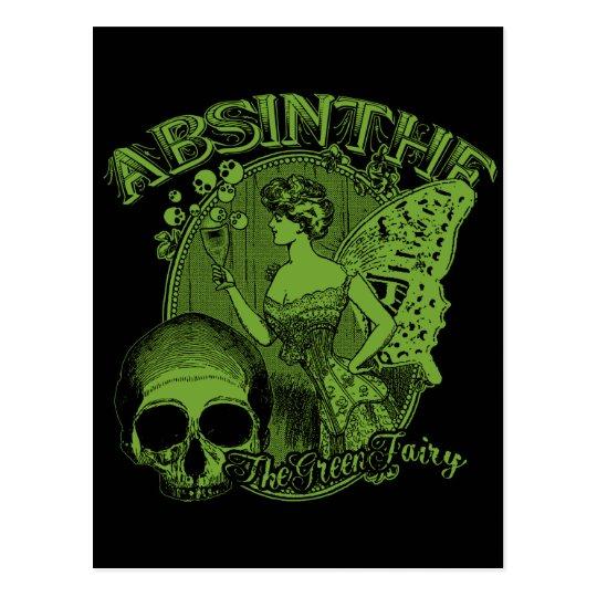 Absinthe Green Fairy Lady Postcard