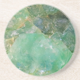 Absinthe Green Quartz Crystal Coaster