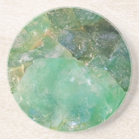 Absinthe Green Quartz Crystal Coaster
