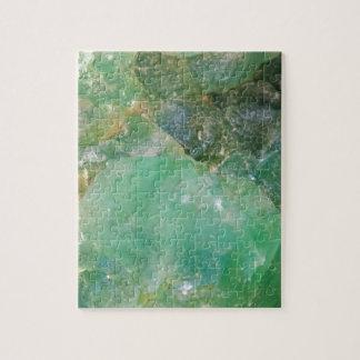 Absinthe Green Quartz Crystal Jigsaw Puzzle