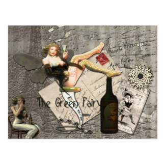Absinthe Makes The Heart Grow Fonder Post Cards