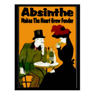 Absinthe MAkes The Heart Grow Fonder Postcard