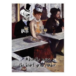 'Absinthe (Makes the Heart Grow Fonder)' Postcard