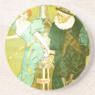 Absinthe Parisienne Gélis-Didot Malteste Fine Art Beverage Coaster
