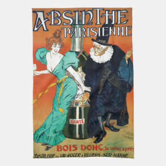 Absinthe Parisienne vintage French advertisement Tea Towel