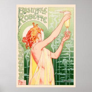 Absinthe Robette By Alphonse Mucha Vintage Poster