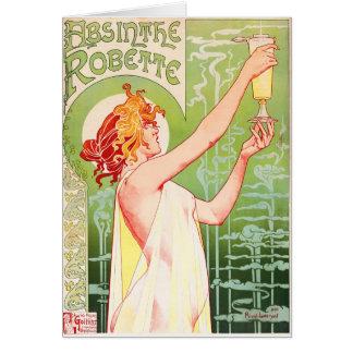 Absinthe Robette Greeting Card