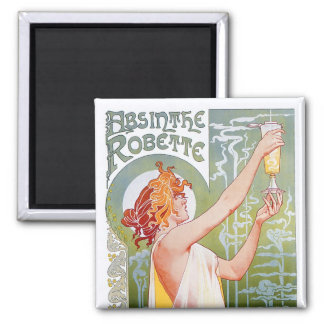 Absinthe Robette Square Magnet