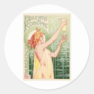 Absinthe Robette Classic Round Sticker