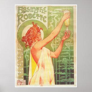 Absinthe Robette victorian French advertisement Poster