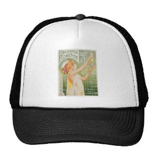 Absinthe Robette Vintage Drink Ad Art Mesh Hats