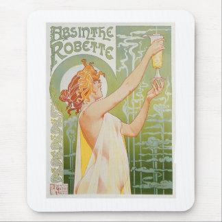 Absinthe Robette Vintage Drink Ad Art Mouse Pad