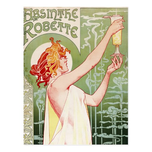 Absinthe Robette - Vintage French Ad Postcards
