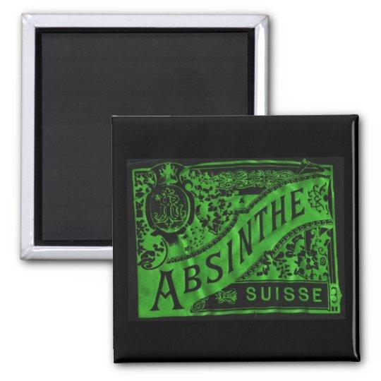 Absinthe Square Magnet