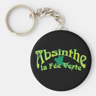 Absinthe Text La Fee Verte Key Ring