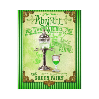 "Absinthe ""The Green Fairy"" Canvas Print"